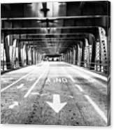 Chicago Wells Street Bridge Picture Canvas Print