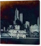 Chicago Buckingham Fountain Northside Textured Canvas Print