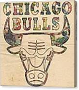 Chicago Bulls Logo Vintage Canvas Print