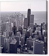 Chicago Bw Canvas Print
