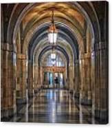 Chicago City Hall 1st Floor Hallway Area Hdr 01 Canvas Print