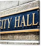 Chicago City Hall Sign Canvas Print