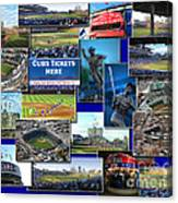 Chicago Cubs Collage Canvas Print