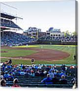 Chicago Cubs Pregame Time Panorama Canvas Print