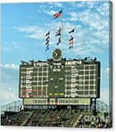 Chicago Cubs Scoreboard 02 Canvas Print