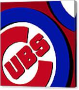 Chicago Cubs Football Canvas Print
