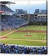 Chicago Cubs Up To Bat Canvas Print