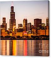 Chicago Downtown City Lakefront With Willis-sears Tower Canvas Print