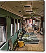 Chicago Eastern Il Rr Car Restoration With Blue Print Canvas Print