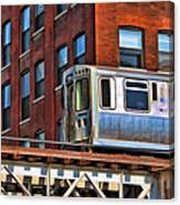 Chicago El And Warehouse Canvas Print