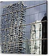 Chicago Facade Reflections Canvas Print