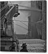 Chicago Firemen Looking On Canvas Print