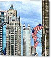 Chicago - Flags Along Michigan Avenue Canvas Print