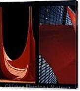 Chicago Flamingo Abstract 01 2 Panel Canvas Print
