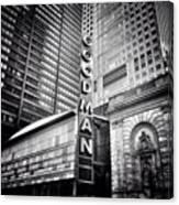 Chicago Goodman Theatre Sign Photo Canvas Print