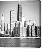 Chicago Hancock Building Black And White Picture Canvas Print