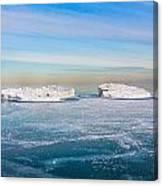 Chicago Ice Caps Canvas Print