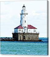 Chicago Illinois Harbor Lighthouse Close Up Usa Canvas Print