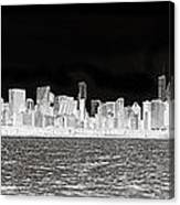 Chicago In Black And White Canvas Print