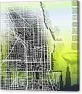 Chicago Map Gradient Canvas Print