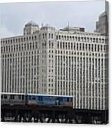 Chicago Merchandise Mart And Cta El Train Canvas Print