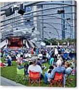 Chicago Outdoor Concert Canvas Print