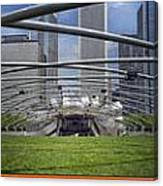 Chicago Pritzker Music Pavillion Triptych 3 Panel Canvas Print