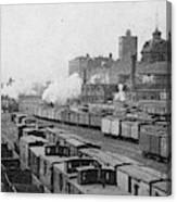 Chicago Railroads, C1893 Canvas Print