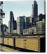 Chicago Railway Freight Terminal - 1943 Canvas Print
