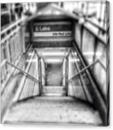 Chicago Lake CTA Red Line Stairs Canvas Print