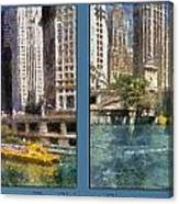 Chicago River 2 Panel Canvas Print