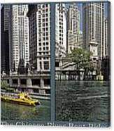 Chicago River Boat Rides 2 Panel Canvas Print