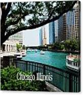 Chicago River Front Canvas Print