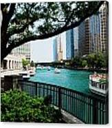 Chicago River Scene Canvas Print