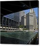 Chicago River Walk Going East 02 Canvas Print
