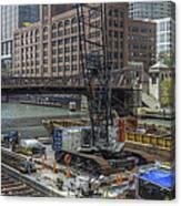Chicago- Riverwalk Construction Canvas Print