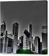 Chicago Skyline 1 Bwc Canvas Print