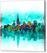 Chicago Skyline Abstract Canvas Print