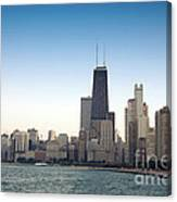 Chicago Skyline And Lake Canvas Print