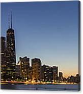 Chicago Skyline At Dusk 3 To1 Aspect Ratio Canvas Print