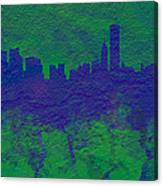 Chicago Skyline Brick Wall Mural 2 Canvas Print