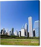 Chicago Skyline From Grant Park Canvas Print