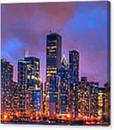Chicago Skyline From Navy Pier View 2 Canvas Print