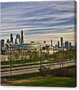 Chicago Skyline From The Sledding Hill Canvas Print