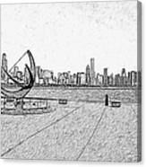 Chicago Skyline Hard Ink Canvas Print