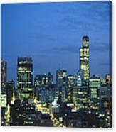 Chicago Skyline May 1983 Twilight Canvas Print