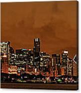 Chicago Skyline Panorama At Dusk Canvas Print