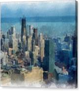 Chicago Skyline Photo Art 06 Canvas Print