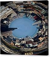 Chicago Skyline Polar View Canvas Print