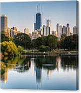 Chicago Skyline Reflection Canvas Print